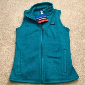 Patagonia Teal Slim Fit Better Sweater Vest
